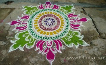 Latest sankranthi muggulu | new pongal rangoli | Pencil sketch | Creative free hand | easy bhogi kolam | indian sankranti competition Art 2018 | TNBNTv