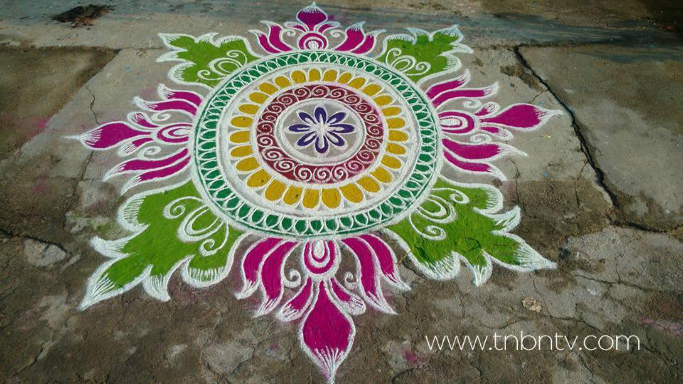 Latest sankranthi muggulu new pongal rangoli pencil sketch creative free hand easy
